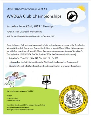 WVDGA Club Championships graphic