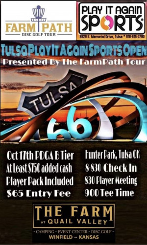 The Farm Path Tour Presents The Tulsa Play it Again Sports Open graphic