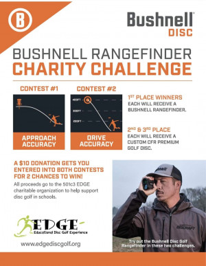 Cherryland Festival's Bushnell Rangefinder Charity Challenge supporting the Educational Disc Golf Experience (EDGE) graphic
