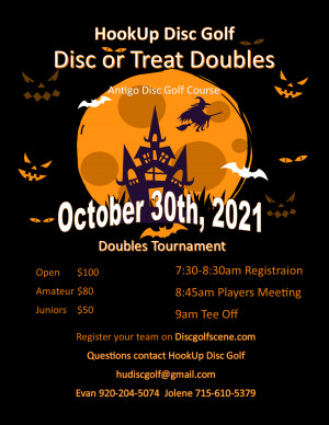 Disc or Treats Doubles graphic