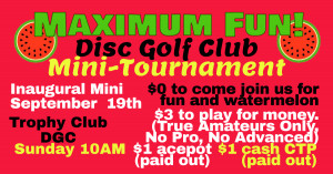 MF!DG Club Inaugural Mini Tournament graphic