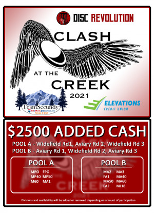 Clash at the Creek 2021 $2500 added $$ graphic