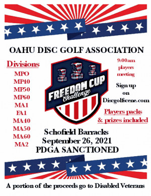 Freedom Cup Challenge Presented by the Oahu Disc Golf Association graphic