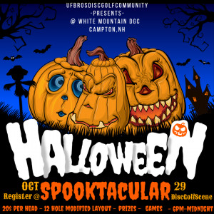 UFBrosDiscGolfCommunity - Bro down glow town throw round : Halloween Spooktacular graphic