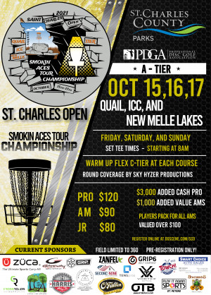 St. Charles Open presented by Smokin Aces & St Charles County Disc Golf Club graphic