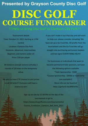 Course Fundraiser - Clarkson Ball Park graphic