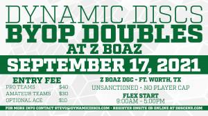 Dynamic Discs BYOP Doubles @ Z Boaz graphic