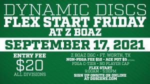 Dynamic Discs Flex Start Friday @ Z Boaz graphic