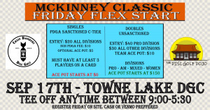 McKinney Classic Flex Start Friday at Towne Lake presented by The Disc Golf Dojo graphic