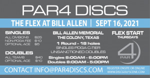 PAR4 Discs Presents the Bill Allen Memorial Flex graphic