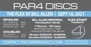 PAR4 Discs Presents the Bill Allen Memorial Flex - DOUBLES graphic