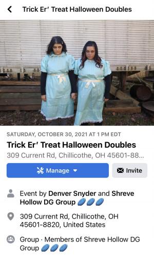 Halloween Trick er' Treat BYOP Doubles graphic