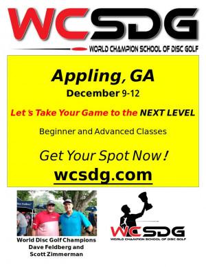World Champion School of Disc Golf, Intermediate/Advanced Class, Appling GA graphic