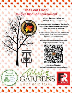 The Leaf Drop Doubles Disc Golf Tournament graphic
