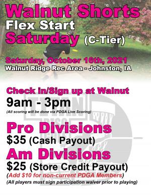 Walnut Shorts Flex Start Saturday graphic