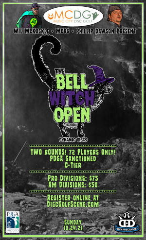 2021 Bell Witch Open Presented By Dynamic Discs graphic