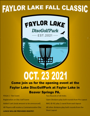 Faylor Lake Fall Classic Presented by Discmania & Double Helix Disc Sports graphic