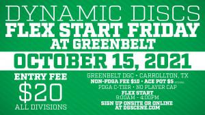 Dynamic Discs Flex Start Friday @ Greenbelt #3 graphic