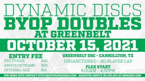 Dynamic Discs BYOP Doubles @ Greenbelt #3 graphic