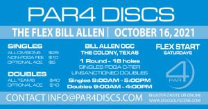 PAR4 Discs Presents the Bill Allen Memorial Flex - DOUBLES 10/16/2021 graphic