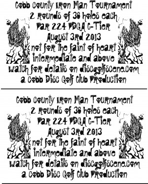 Oregon Park Iron Man graphic