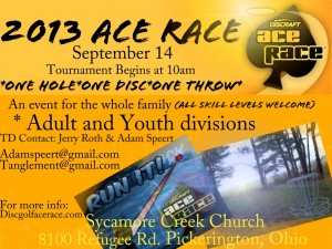 Ace Race 2013 Tournament presented by Discraft graphic