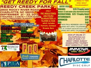 "Get Reedy For Fall - A ""C Tier"" Disc Golf Tournament graphic"