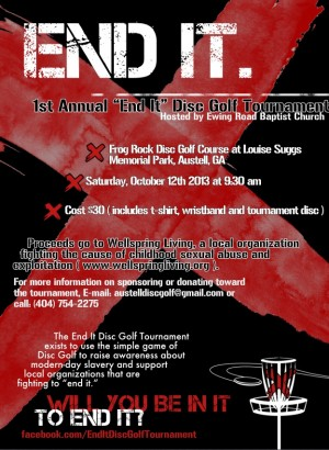 """End It"" Disc Golf Tournament graphic"