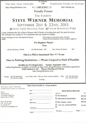 The Steve Werner Memorial graphic
