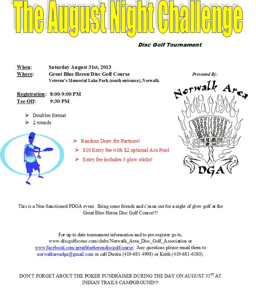 The August Night Challenge~ (2013, Norwalk Area Disc Golf