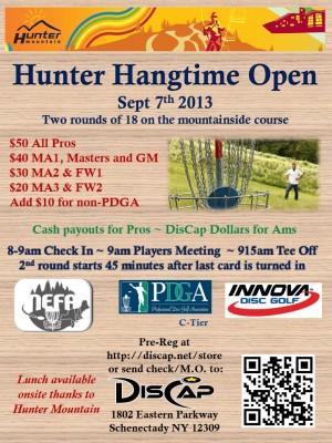 2013 Hunter Hangtime Open graphic