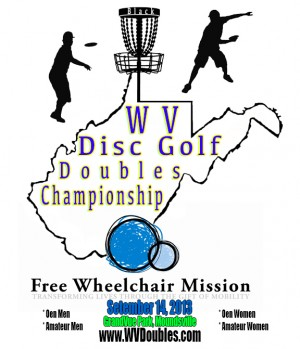 WV Disc Golf Doubles Championship graphic