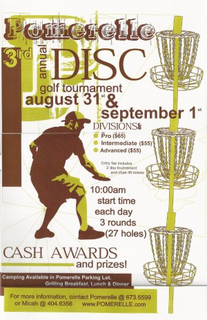 3rd Annual Pomerelle Disc Golf Tournament graphic