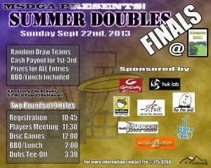 MSDGA Summer Doubles League FINALS graphic