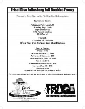Frisci Disc Fallasburg Fall Doubles Frenzy graphic