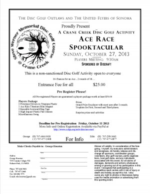 Crane Creek Ace Race Spooktacular graphic