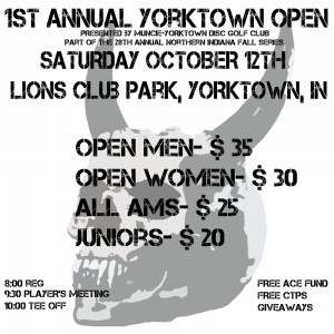 1st annual Yorktown Open. Presented by MYDGC! graphic