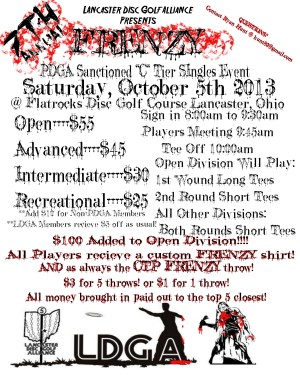 7th Annual Frenzy at Flatrocks 10/5 C tier graphic
