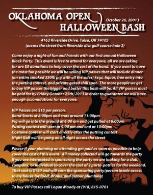 Oklahoma Open Halloween Bash graphic