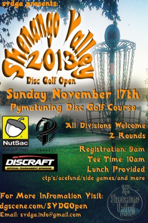Shenango Valley Disc Golf Open graphic