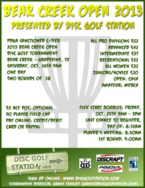Bear Creek Open presented by DiscGolfStation.com graphic