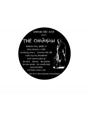 The WDGC Chainsaw graphic