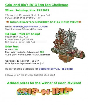 Grip and Rip's Fall Bag Tag Challenge graphic