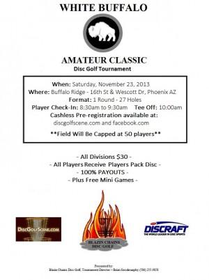 White Buffalo Amateur Classic 2013 graphic