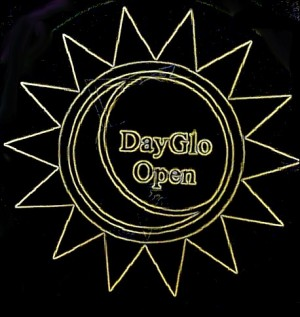 Day Glo Open graphic