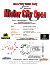 The 12th Annual Motor City Open graphic