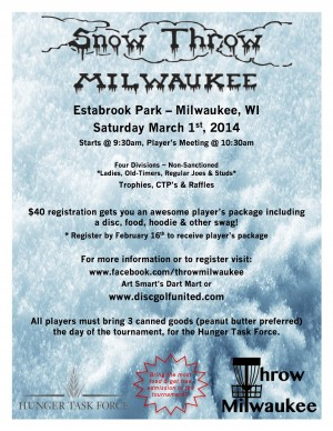 Snow Throw Milwaukee 2014 graphic
