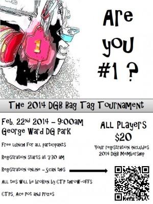 2014 DGB Bag Tag Tournament graphic