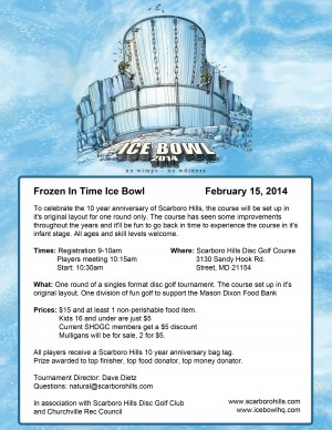 Frozen In Time Ice Bowl 2014 graphic