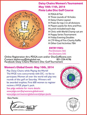 WGE - Daisy Chains Women's Tournament graphic